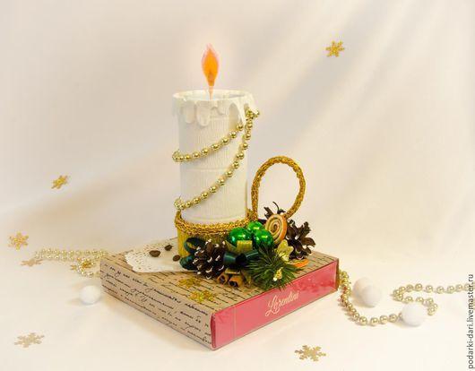 Новый год 2017 ручной работы. Ярмарка Мастеров - ручная работа. Купить Рождественский подсвечник. Handmade. Свеча, новогодний подарок