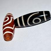 Материалы для творчества handmade. Livemaster - original item Rare Bead. Tibetan Dzi Bead 2 eyes spiral.. Handmade.