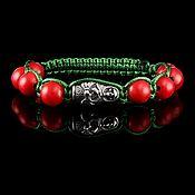 handmade. Livemaster - original item Bracelet Death a la Russe hammer and Sickle coral. Handmade.
