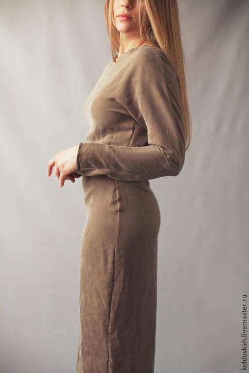 """Платья ручной работы. Ярмарка Мастеров - ручная работа. Купить Платье """"Nude"""". Handmade. Бежевый, бежевое платье"""