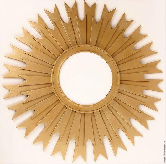 """Зеркала ручной работы. Ярмарка Мастеров - ручная работа. Купить Зеркало """"Солнце Италии"""" Золото. Handmade. Золотой, зеркало настенное"""