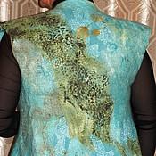Одежда ручной работы. Ярмарка Мастеров - ручная работа Жилет валяный Острова. Handmade.
