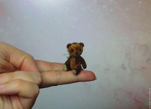 Мишки Тедди ручной работы. Ярмарка Мастеров - ручная работа. Купить Мишка Джонни, 4,3 см. Handmade. Коричневый