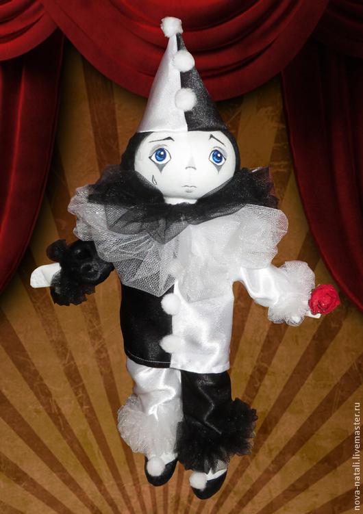 Куклы тыквоголовки ручной работы. Ярмарка Мастеров - ручная работа. Купить Пьеро. Handmade. Чёрно-белый, пьеро, мальвина, буратино