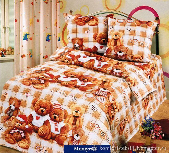 Детское постельное белье из бязи Мишутки, Детская, Ижевск, Фото №1