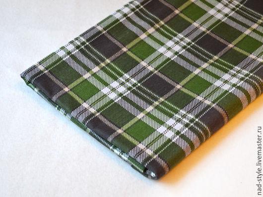 Шитье ручной работы. Ярмарка Мастеров - ручная работа. Купить Бязь хлопок  шотландка, зеленый. Handmade. Тёмно-зелёный
