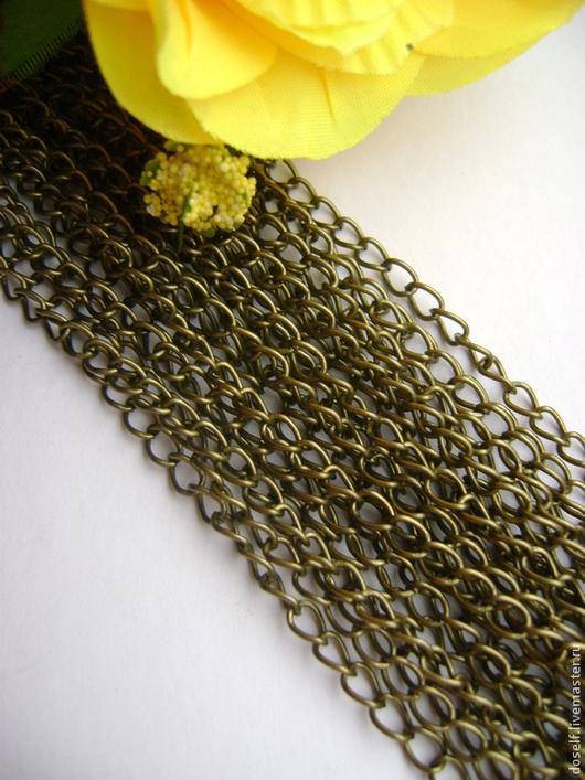 Для украшений ручной работы. Ярмарка Мастеров - ручная работа. Купить Цепь для украшений,звено 3.5х5.5мм,цвет бронза. Handmade.