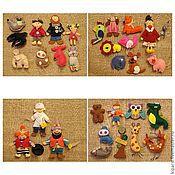Куклы и игрушки ручной работы. Ярмарка Мастеров - ручная работа Фетровые игры - Айболит и Бармалей. Handmade.