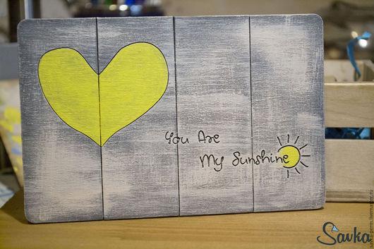 """Открытки на все случаи жизни ручной работы. Ярмарка Мастеров - ручная работа. Купить Открытка """"You are my sunshine"""". Handmade."""
