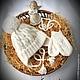 """Для новорожденных, ручной работы. Заказать Комплект """"My angel"""" для новорожденного (шапочка и варежки). ЮЛИЯ ВЯЗАНКА (Yuliya Vyazanka). Ярмарка Мастеров."""