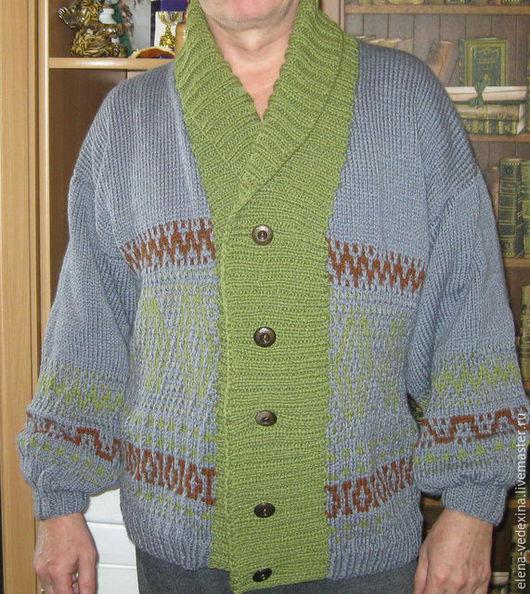 Кофты и свитера ручной работы. Ярмарка Мастеров - ручная работа. Купить Кофта вязаная с орнаментом. Handmade. Серый, кофта вязаная