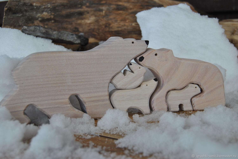 Паззл белые медведи, Мягкие игрушки, Киров,  Фото №1