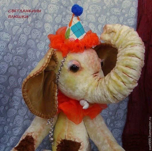 """Мишки Тедди ручной работы. Ярмарка Мастеров - ручная работа. Купить плюшевые слонята """" Звёзды арены Коржик и Ванилька """". Handmade."""