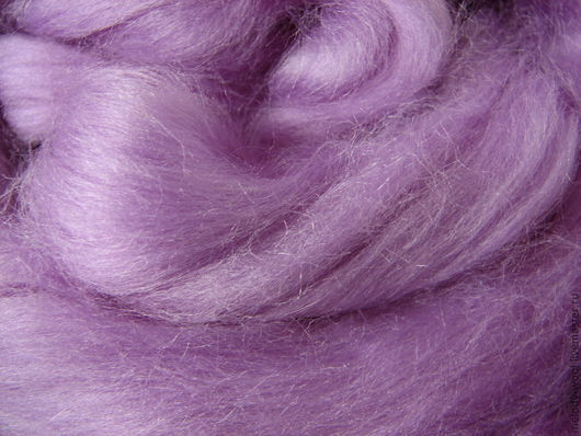 Валяние ручной работы. Ярмарка Мастеров - ручная работа. Купить Шелк Тусса. Цвет Лаванда (Lavender). Handmade. Сиреневый