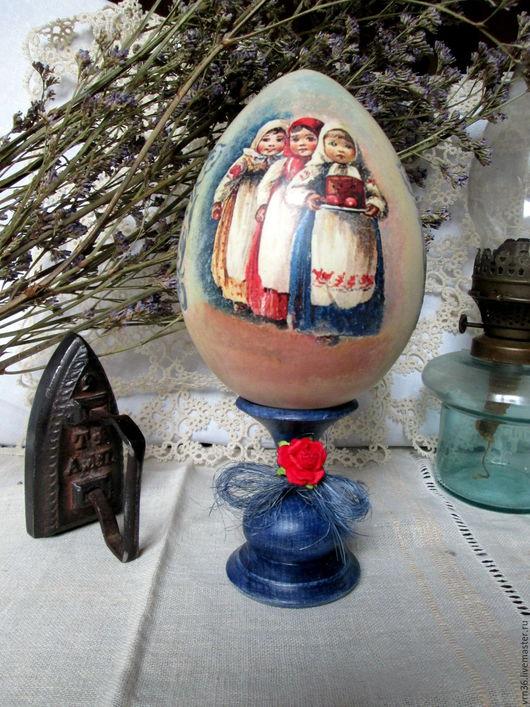 Подарки на Пасху ручной работы. Ярмарка Мастеров - ручная работа. Купить Пасхальное интерьерное яйцо h-22см. Handmade. Комбинированный
