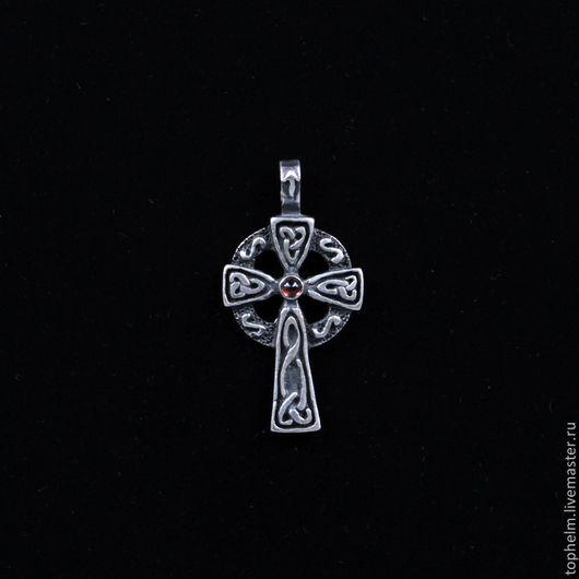 Кулоны, подвески ручной работы. Ярмарка Мастеров - ручная работа. Купить Кулон кельтский крест Тейваз. Handmade. Серебряный