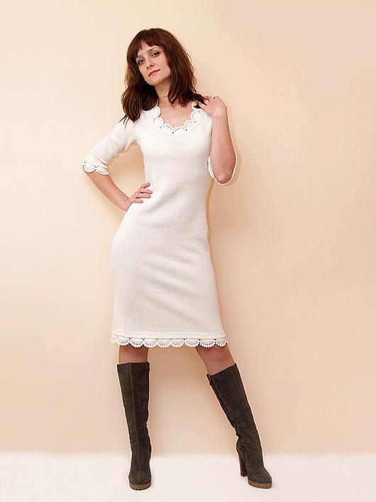 Платья ручной работы. Ярмарка Мастеров - ручная работа. Купить Платье вязаное 4375. Handmade. Платье, вязаное платье