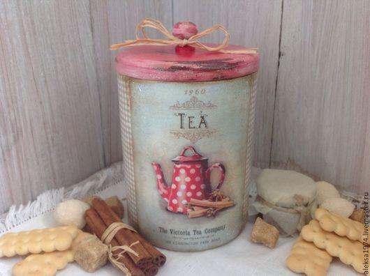 """Кухня ручной работы. Ярмарка Мастеров - ручная работа. Купить Банка для чая """" TEA 1960"""". Handmade. Серый, чай"""
