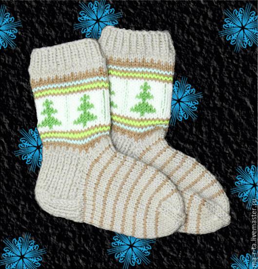 Носки, гольфы, гетры ручной работы. Ярмарка Мастеров - ручная работа. Купить Носки  детские ручной вязки с козьим пухом. Handmade.