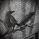 """Фантазийные сюжеты ручной работы. картина """"Ночь"""" в стиле стринг арт. Smolot. Ярмарка Мастеров. Панно, Нитки, картина на дереве"""