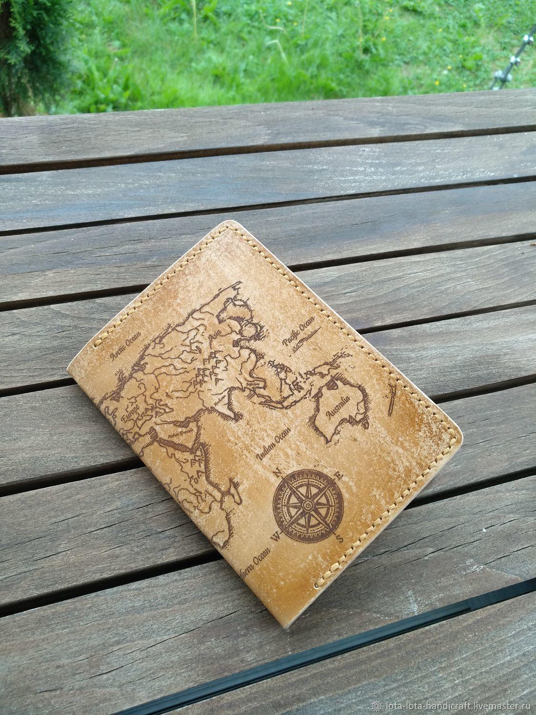 Обложки ручной работы. Ярмарка Мастеров - ручная работа. Купить Обложка для паспорта из натуральной кожи. Handmade. Обложка на паспорт