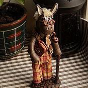 """Для дома и интерьера ручной работы. Ярмарка Мастеров - ручная работа Фигурка """"Дедушка-ослик"""". Handmade."""
