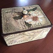 """Для дома и интерьера ручной работы. Ярмарка Мастеров - ручная работа Короб для хранения нужных вещей """"Цветы"""". Handmade."""