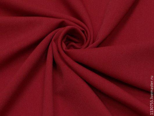 Шитье ручной работы. Ярмарка Мастеров - ручная работа. Купить ткань костюмная вискоза стрейч бордо 27.08. Handmade.