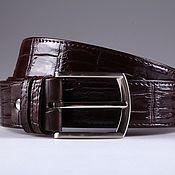 Аксессуары handmade. Livemaster - original item Crocodile leather belt IMA3108K. Handmade.