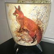 """Цветы и флористика ручной работы. Ярмарка Мастеров - ручная работа Кашпо большое """"Благородный рыжий лис"""". Handmade."""