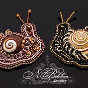Украшения handmade. Livemaster - original item Brooch snail. Handmade.