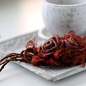 Украшения ручной работы. Ярмарка Мастеров - ручная работа Валяное украшение на руку «Рыжее настроение». Handmade.