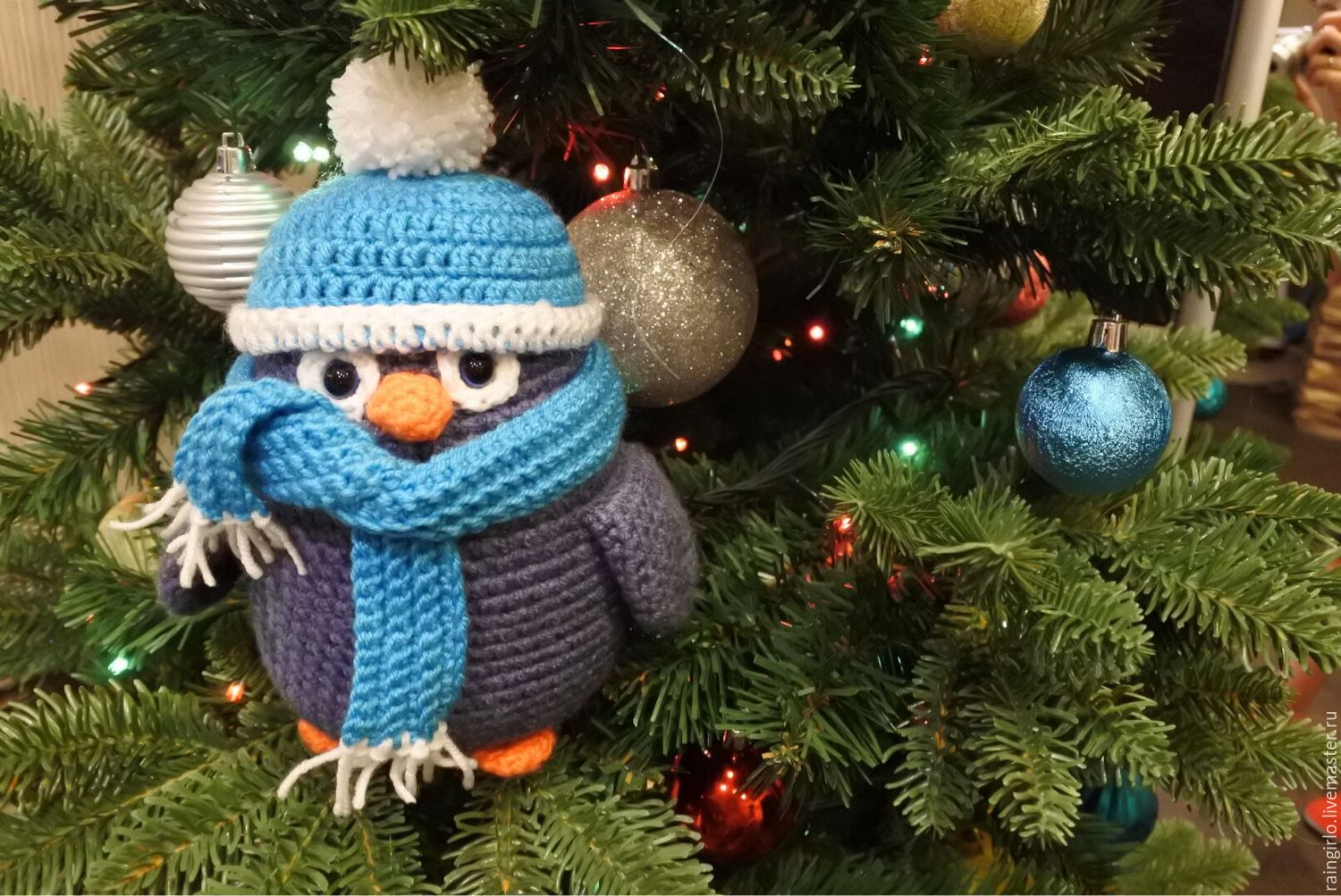 Penguin, knitted Puglias, Stuffed Toys, St. Petersburg,  Фото №1