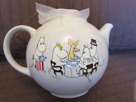 Чайники, кофейники ручной работы. Ярмарка Мастеров - ручная работа. Купить Муми-чайник. Handmade. Бежевый, волшебный, фаянс