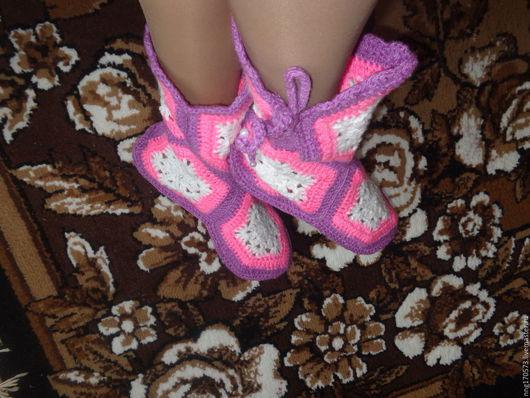 Обувь ручной работы. Ярмарка Мастеров - ручная работа. Купить Вязанные домашние сапожки. Handmade. Вязанные сапожки