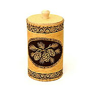 Для дома и интерьера handmade. Livemaster - original item Bank from a birch bark Cones. Bank for storage of loose products. Handmade.