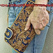 Сумки и аксессуары handmade. Livemaster - original item Womens leather clutch bag. Handmade.