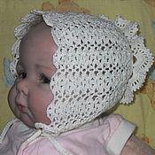 Работы для детей, ручной работы. Ярмарка Мастеров - ручная работа Чепчик кружевной для новорожденного Роскошный. Handmade.
