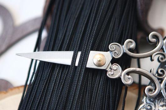 Для украшений ручной работы. Ярмарка Мастеров - ручная работа. Купить Турецкий сутаж 3 мм  Черный ( 3 метра ). Handmade.