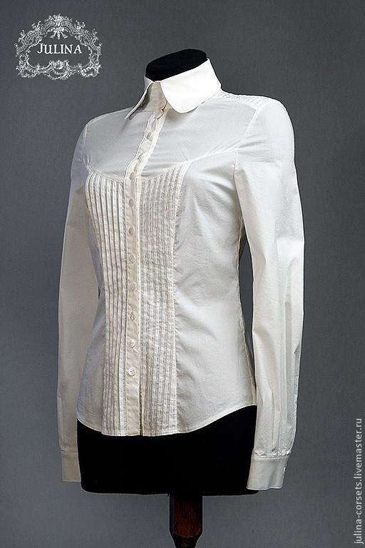 """Блузки ручной работы. Ярмарка Мастеров - ручная работа. Купить Блузка """"Аристократка 2"""". Handmade. Белый, блузка, стиль"""