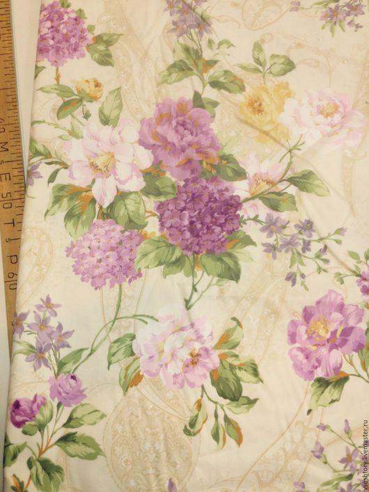 Шитье ручной работы. Ярмарка Мастеров - ручная работа. Купить Ткань для штор с хлопком  крупные цветы пионы фиолетовые. Handmade.