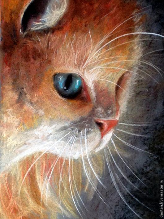 Животные ручной работы. Ярмарка Мастеров - ручная работа. Купить Картина пастелью Кот. Handmade. Картина, пастель, кот, подарок