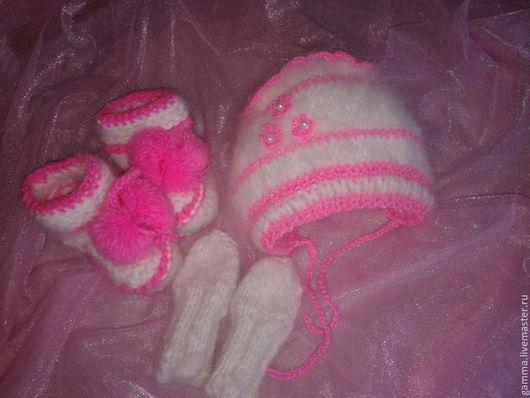 """Для новорожденных, ручной работы. Ярмарка Мастеров - ручная работа. Купить Комплект пуховый двойка   """" Зайка Моя """".. Handmade."""
