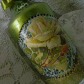 Посуда ручной работы. Ярмарка Мастеров - ручная работа РОЗЫ ПАХЛИ ПОЛЫНЬЮ    бутылка (пустая). Handmade.