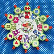 Игровые наборы ручной работы. Ярмарка Мастеров - ручная работа ЗАПЛАТКИ. Игра с прищепками. Handmade.