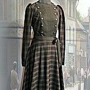 Одежда ручной работы. Ярмарка Мастеров - ручная работа стилизованное платье в клетку. Handmade.