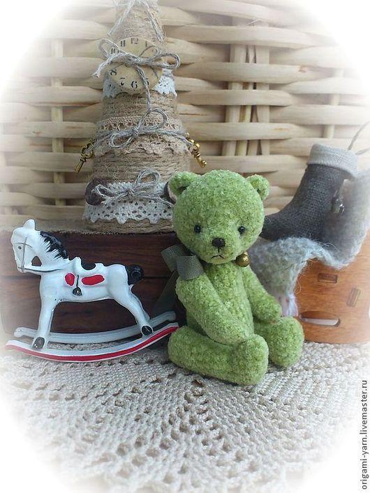 Мишки Тедди ручной работы. Ярмарка Мастеров - ручная работа. Купить В ожидании.... Handmade. Салатовый, мишка, Маленький мишка