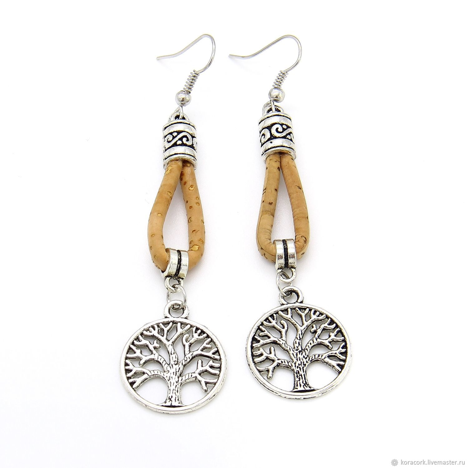 Tree Of Life Earrings From Portuguese Cork Handmade Br0006w Shop Online On Livemaster With Shipping Jb20wcom Moscow