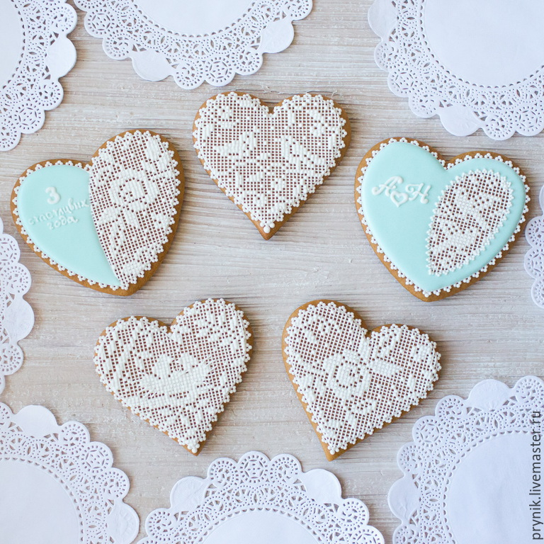 Gingerbread Hearts 'Lace', Gingerbread Cookies Set, St. Petersburg,  Фото №1