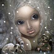 Картины и панно ручной работы. Ярмарка Мастеров - ручная работа Зима пришла....Холст/масло. Handmade.